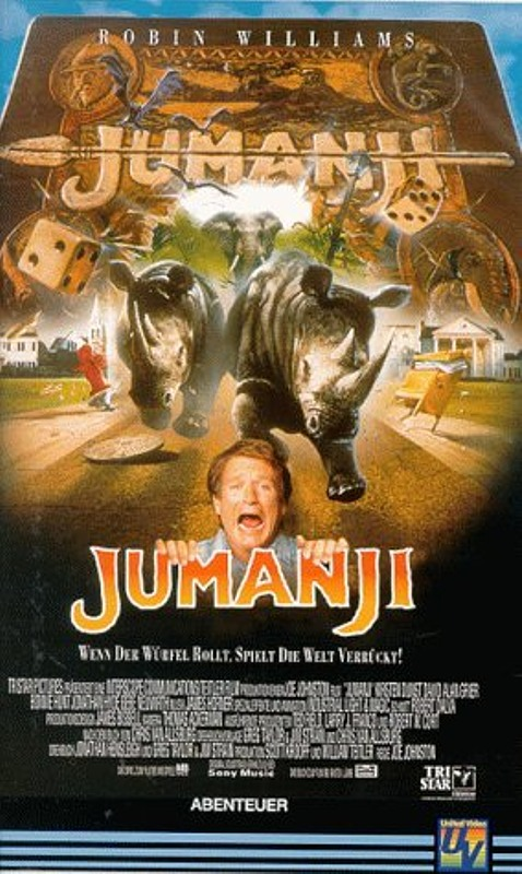 Jumanji VHS-Video Bild