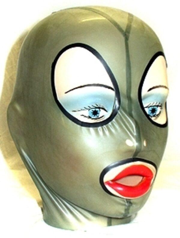 Anatomische Latex Maske mit Reißverschluss  Bild