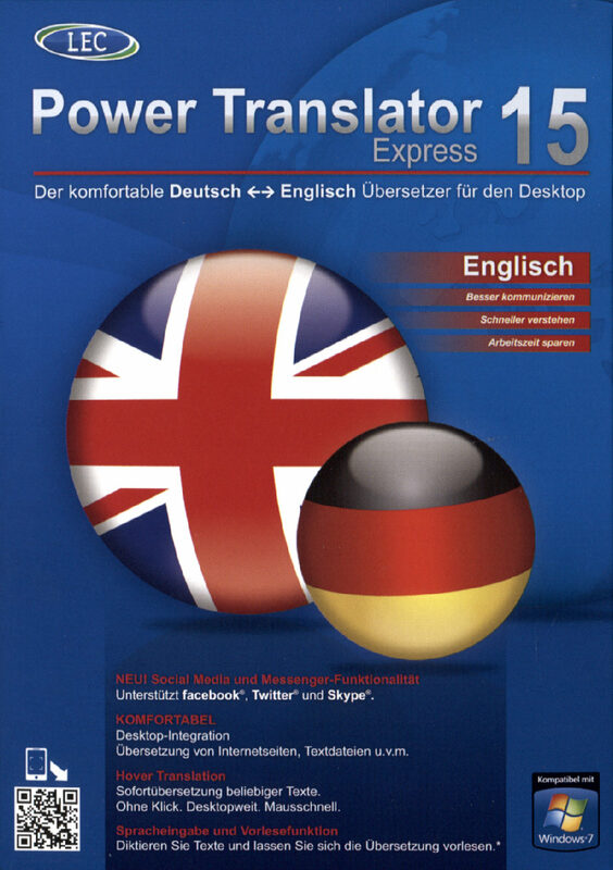 Power Translator 15 Express - Deutsch-Englisch PC Bild
