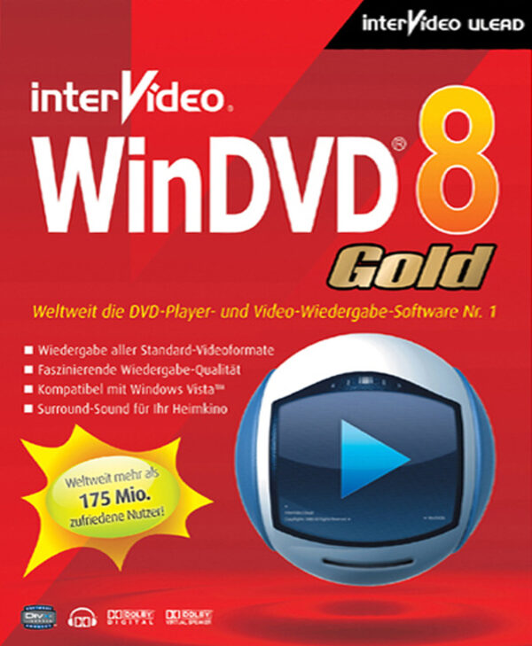 Ulead Win DVD 8 Platinum PC Bild.