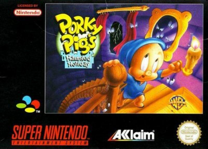 Porky Pigs Haunted Holiday Super Nintendo Bild