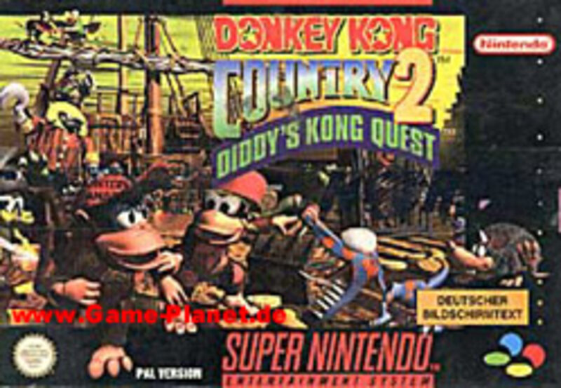 Donkey Kong Country 2 Diddy's Kong Quest Super Nintendo Bild