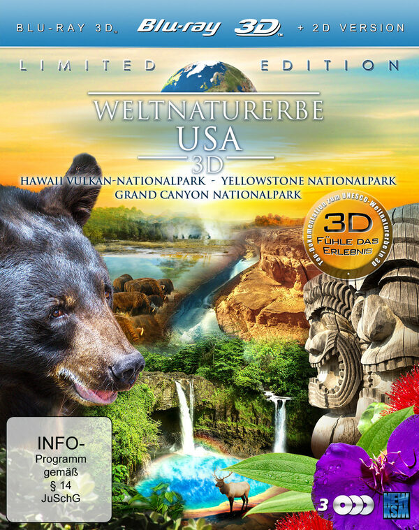 Weltnaturerbe USA 3D  [LE] [3 BRs] Blu-ray Bild
