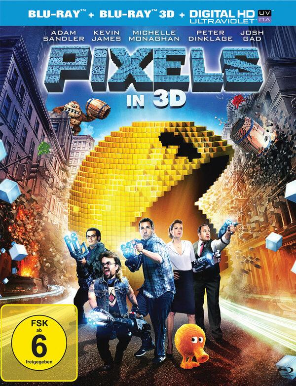 Pixels (Blu-ray 3D, + Blu-ray) Blu-ray Bild