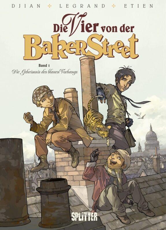 Die Vier von der Baker Street 1  - Das Geheimnis Des Blauen Vorhangs Comic Bild