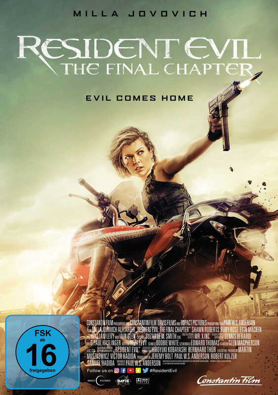 Resident Evil: The Final Chapter DVD Bild