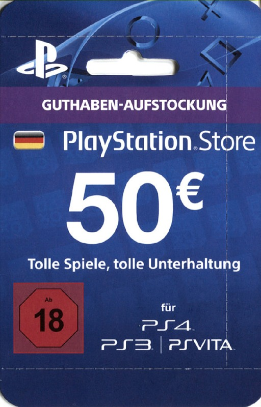 PS4 - Playstation Store Network Card 50€ Playstation 4 Bild