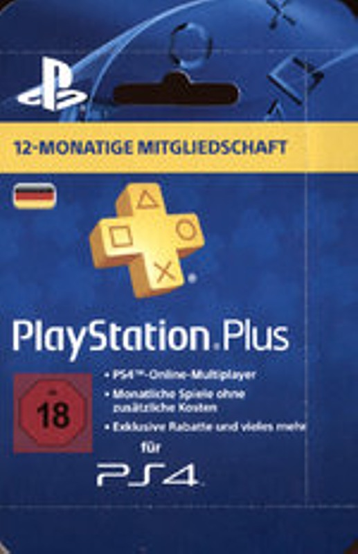 PS4 - Playstation Plus Live Card - 365 Tage Playstation 4 Bild