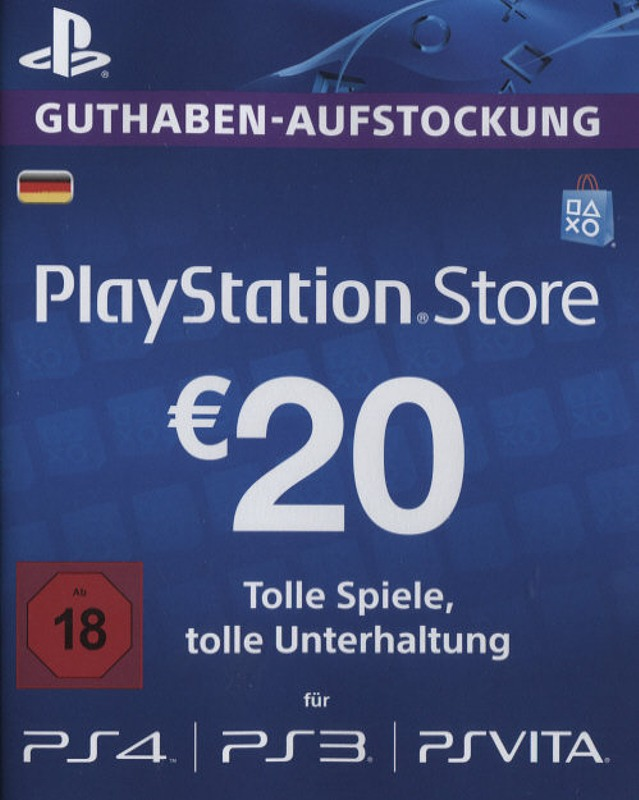PS4 - Playstation Store Network Card 20€ Playstation 4 Bild