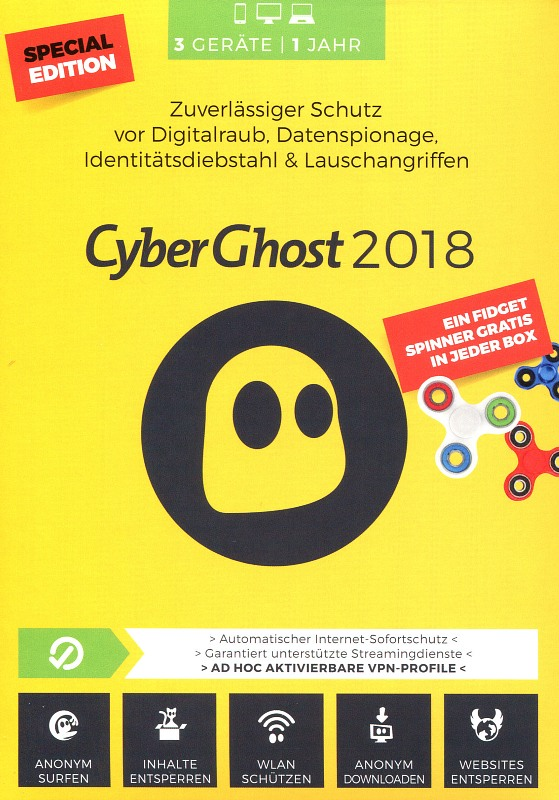 CyberGhost 7 - 3 Geräte - Special Edition PC Bild