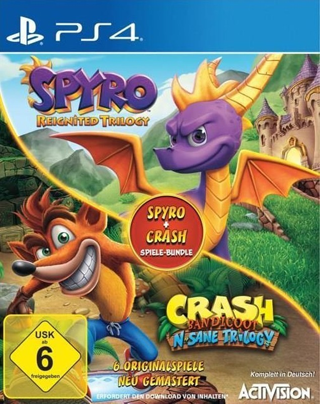 Spyro + Crash Spiele-Bundle Playstation 4 Bild