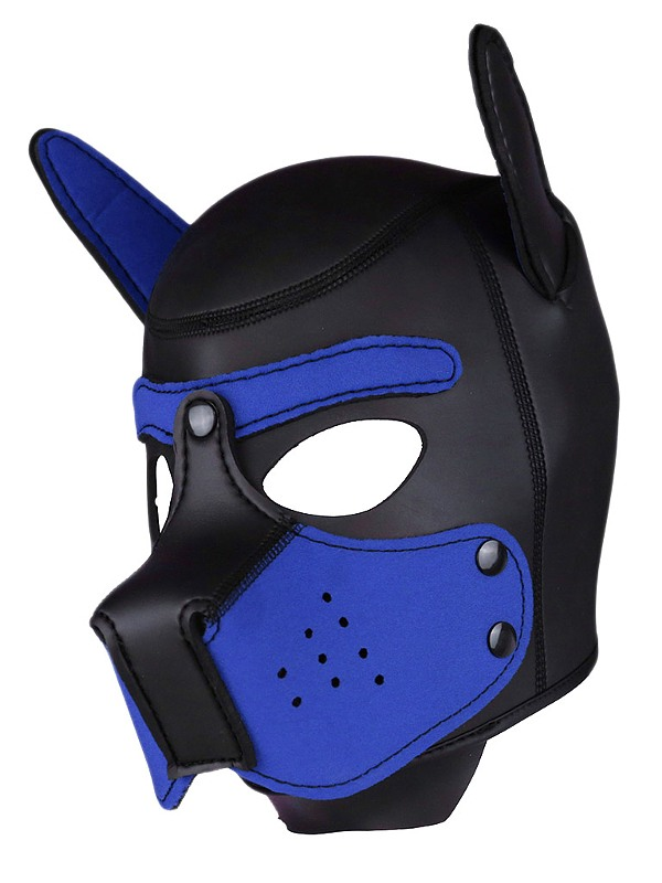 RudeRider Neoprene Puppy Hoods, Fb.: blue , Gr.: L/XL Gay Kleidung Bild