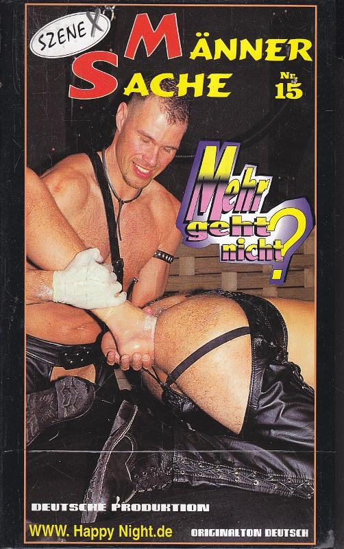 Männersache 15 Gay VHS-Video Bild
